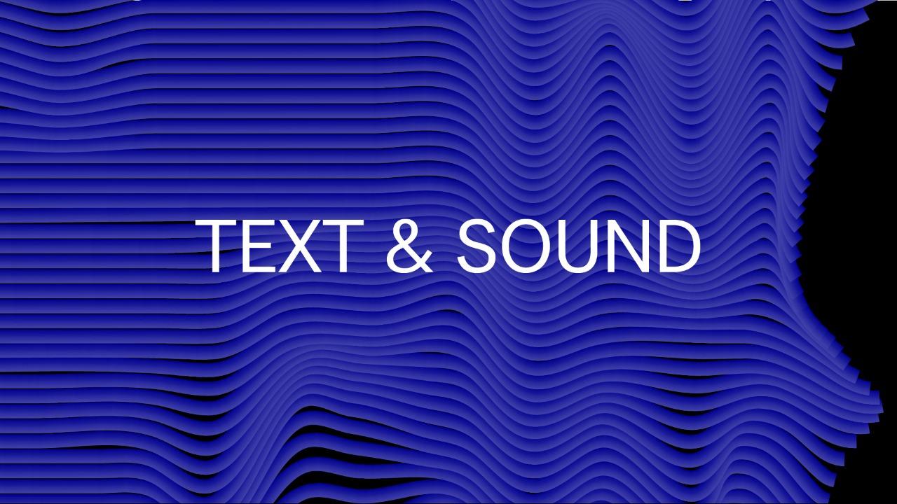 Звуковая поэзия и текстово-звуковая композиция (Text & Sound)